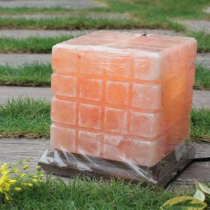 Himalayan Pink Salt Checkered Lamp - Hub Salt eShop