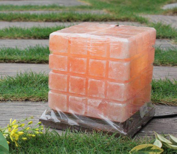 Himalayan Pink Salt Checkered Lamp - Hub Salt eShop