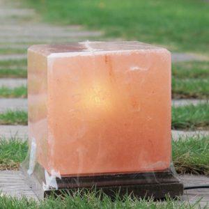 Himalayan Pink Salt Cube Shape Lamp - Hub Salt eShop