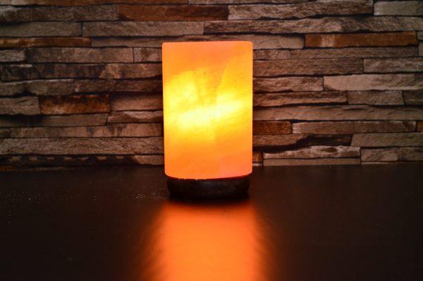 Himalayan Pink Salt Cylinder Shape Lamp -Hub Salt eShop