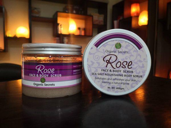 Rose Face and Body Scrub - Hub Salt eShop
