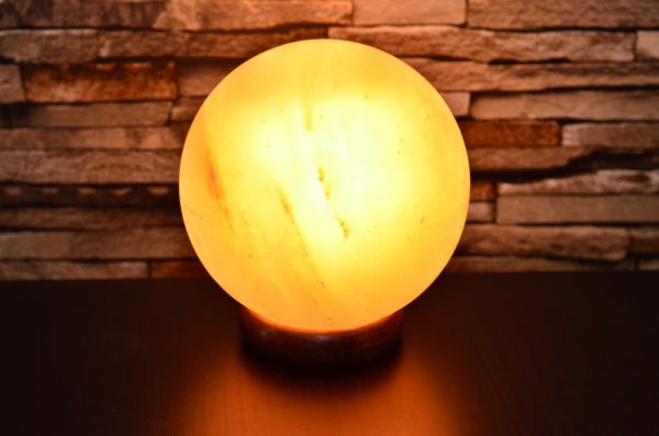 Himalayan Pink Salt Sphere Shape Lamp - Hub Salt eShop