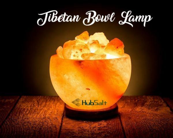 Himalayan Pink Salt Tibetan Bowl Lamp - Hub Salt eShop