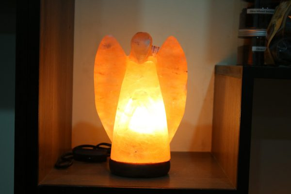 Himalayan Pink Salt Angel Shaped Lamp - Hub Salt eShop