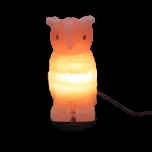 Himalayan Pink Salt Owl Lamp - Hub Salt eShop